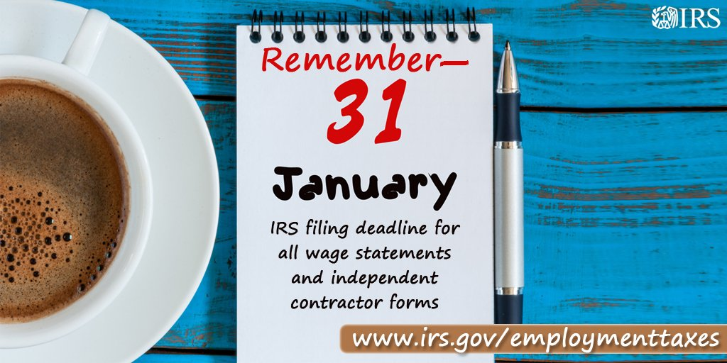 Irs On Twitter Reminder For Employers Extensions To File Forms W