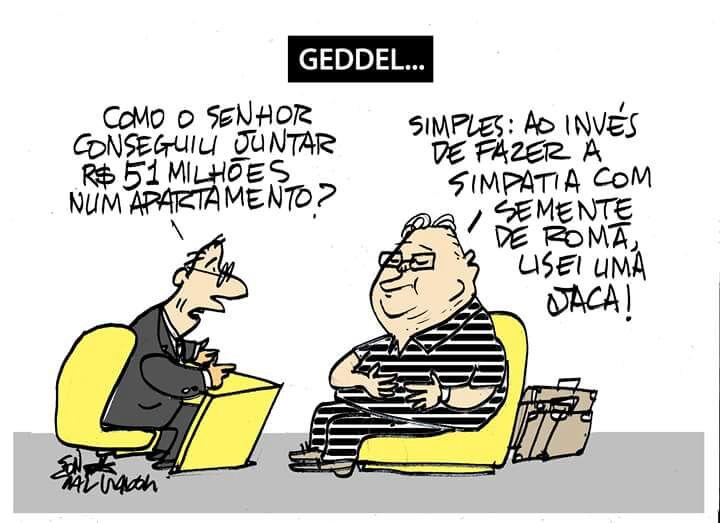 Resultado de imagem para Geddel e Lúcio Vieira Lima - irmãos ladrões - charges