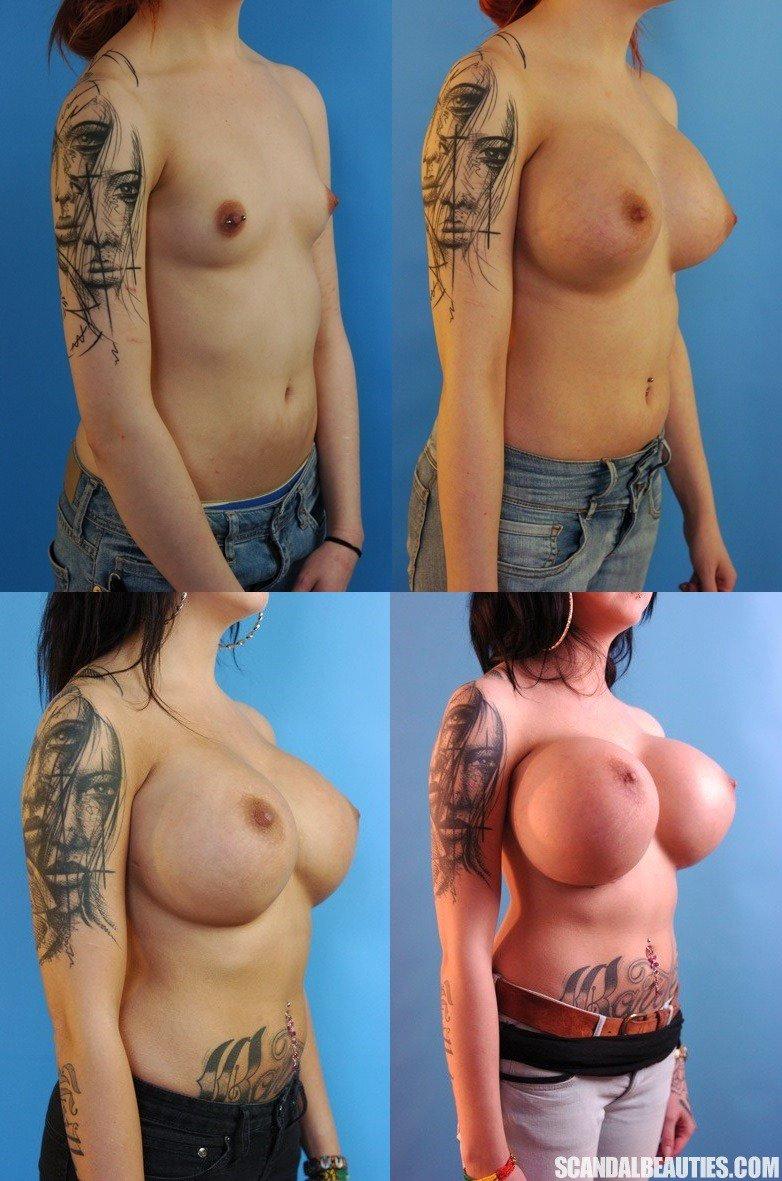 Large tits transformation