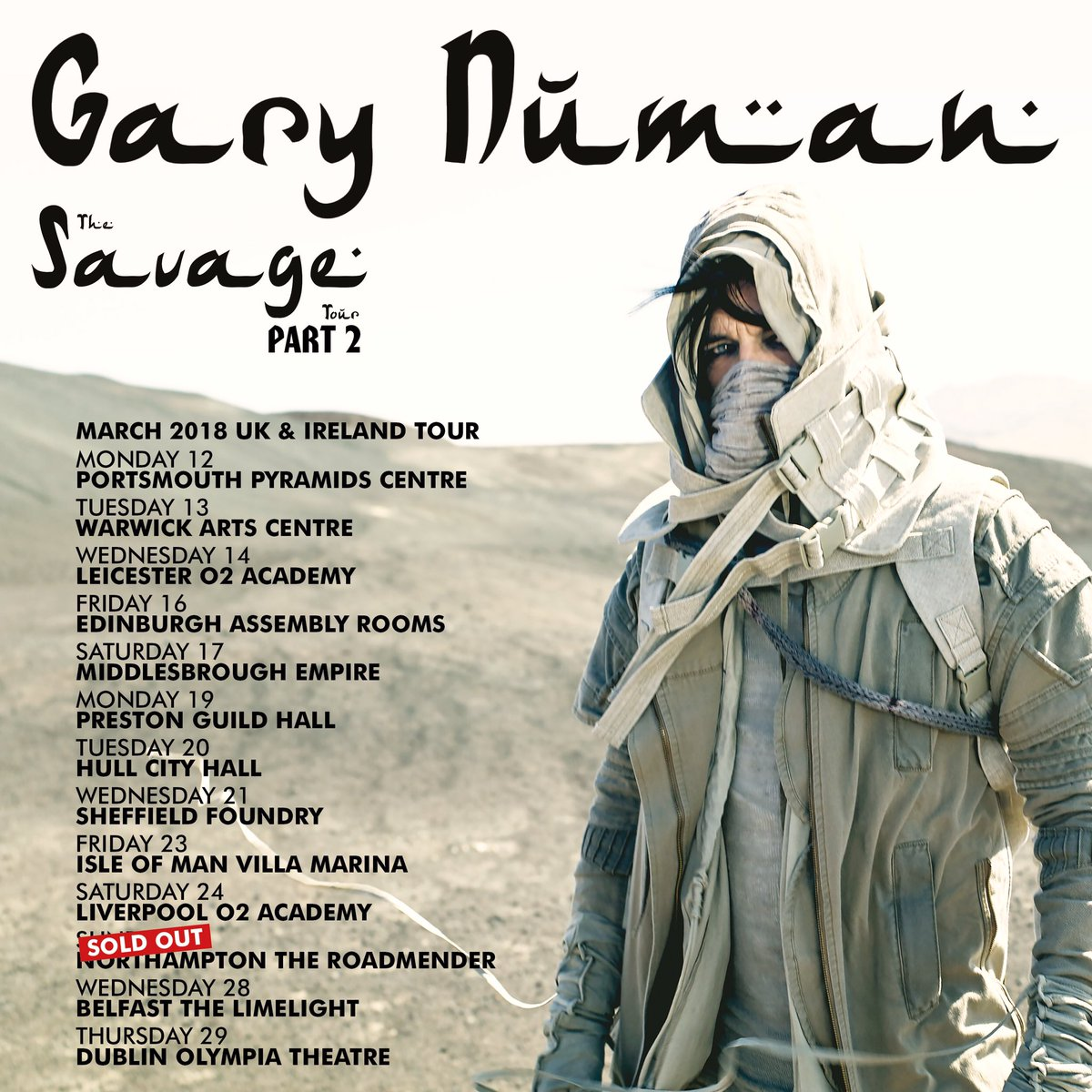 Gary numan on twitter portsmouth meet greet has sold out and the gary numan on twitter portsmouth meet greet has sold out and the feb 24 rehearsal has one place left ukireland savage tour 2018 m4hsunfo