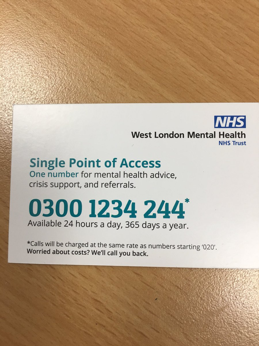 Old oak police on twitter every day your police assist people who business card for west london mental health team for advice support or referrals reheart Choice Image