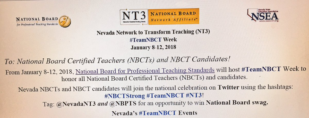 National Board On Twitter There Are 3142 Nbctstrong And
