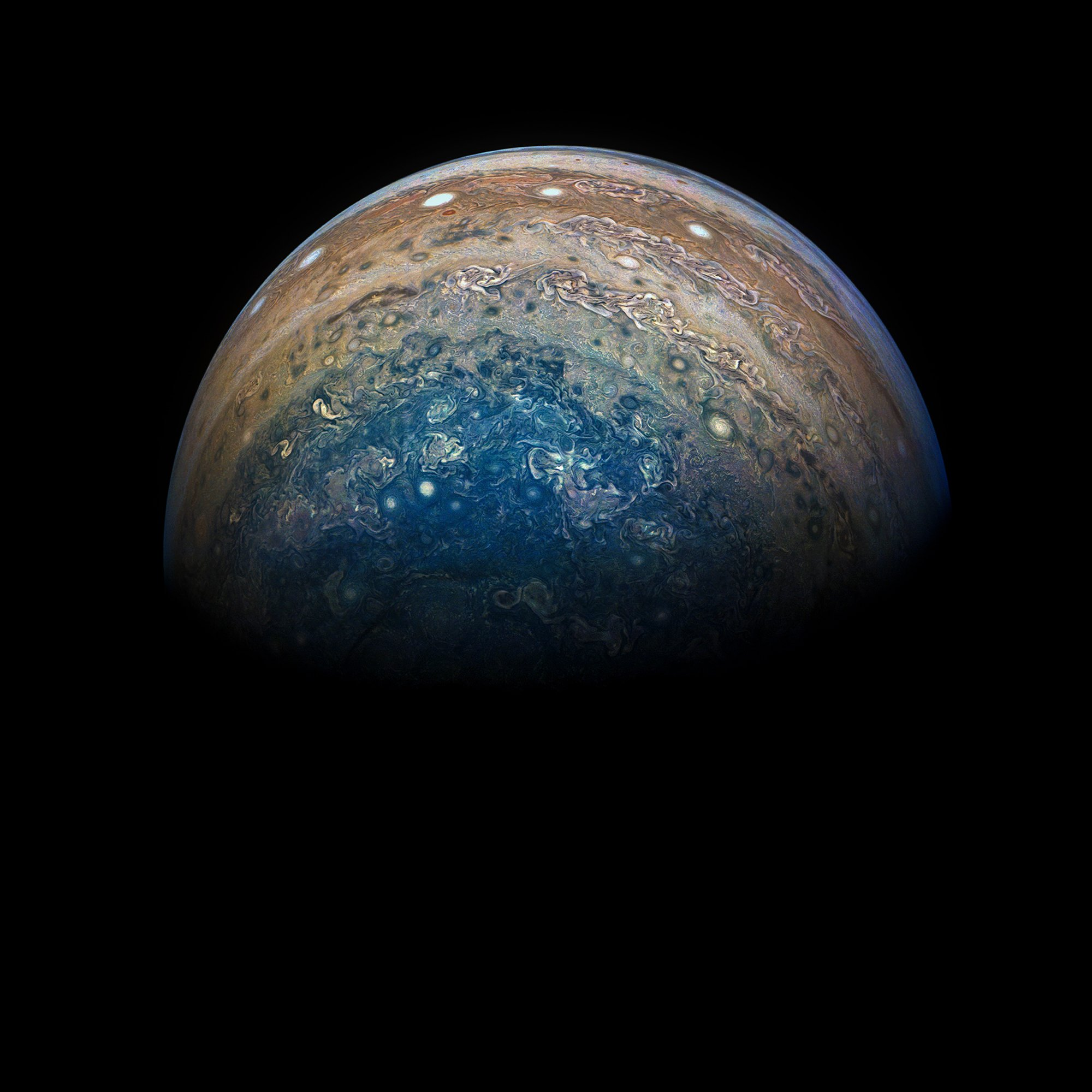 8th Juno image of Jupiter