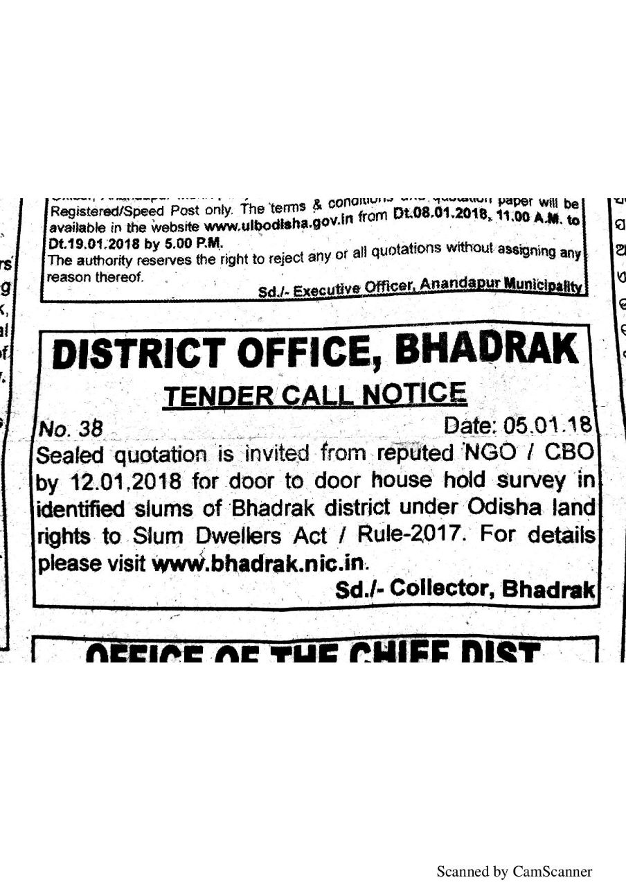 District Administration,Bhadrak on Twitter: