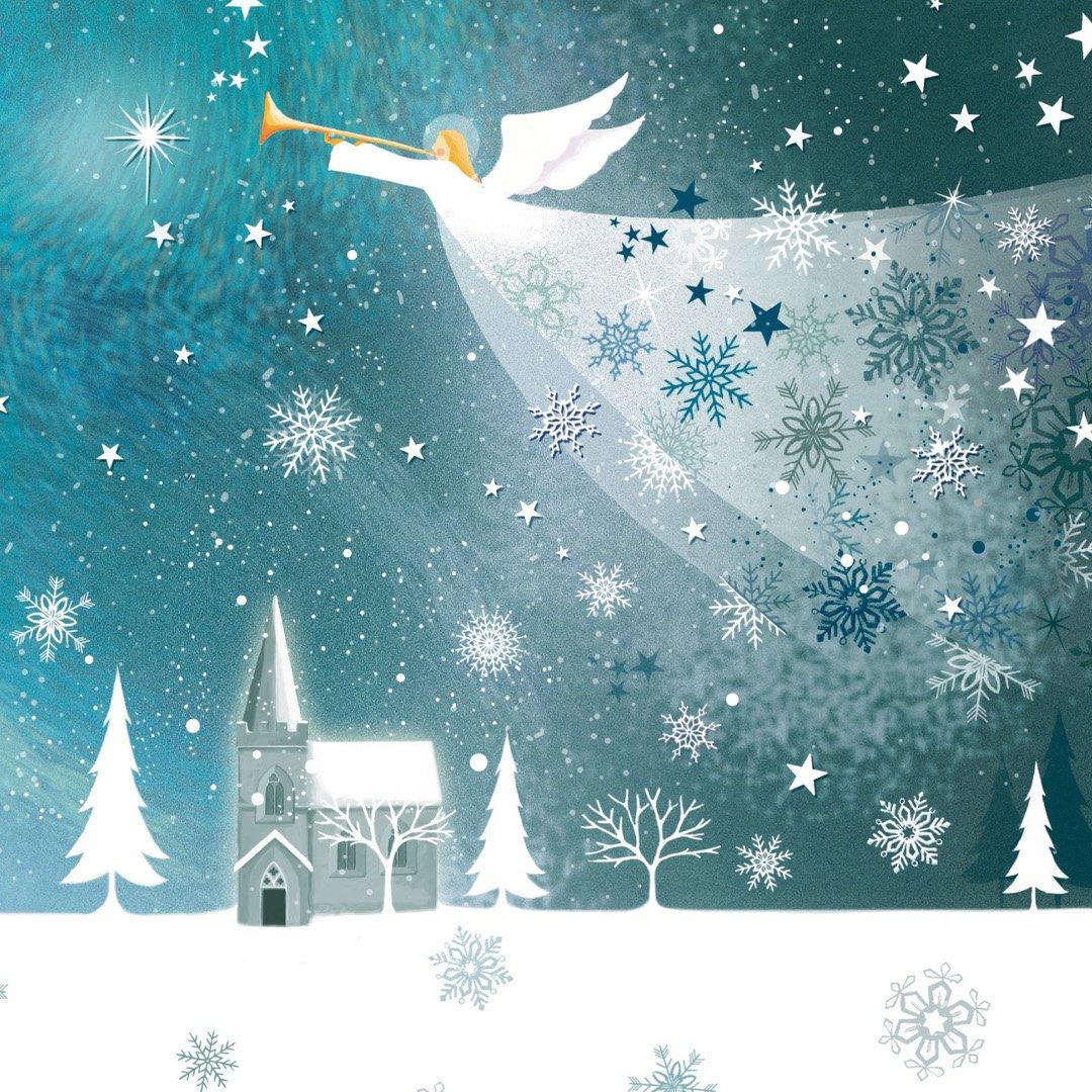 Новогодние открытки с рождеством христовым