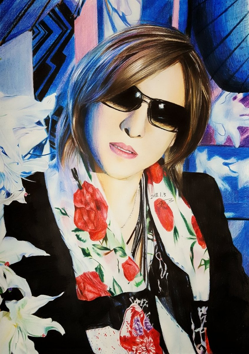 Thanx! #fanart  RT @20000910mahiro #色鉛筆 #YOSHIKI https://t.co/XxuvbHjEuA