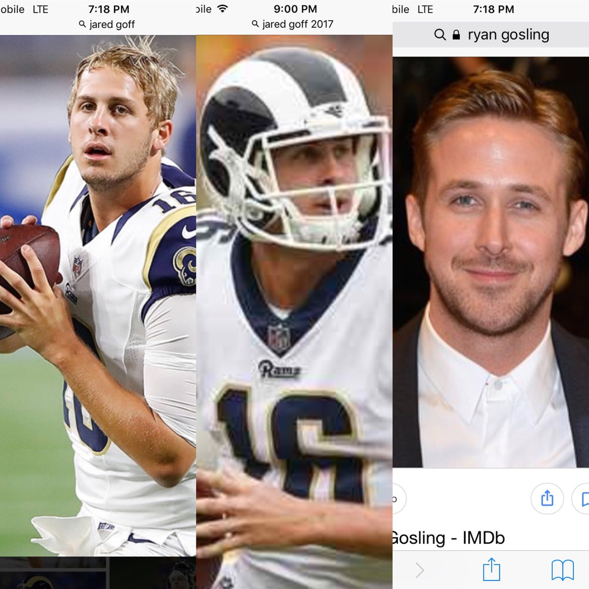 Noah In The Know On Twitter Jared Goff Or Ryan Gosling With A Helmet On ツ