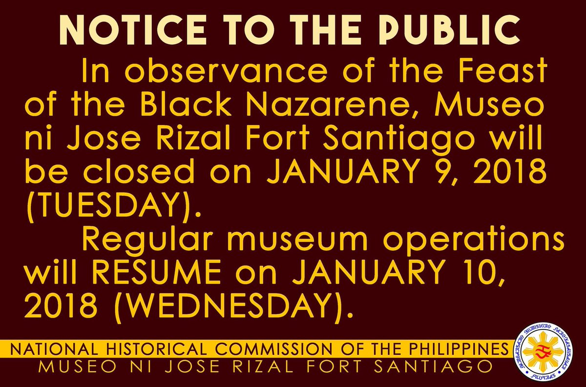 Intramuros Phl On Twitter Please Be Advised That Museo Ni Jose
