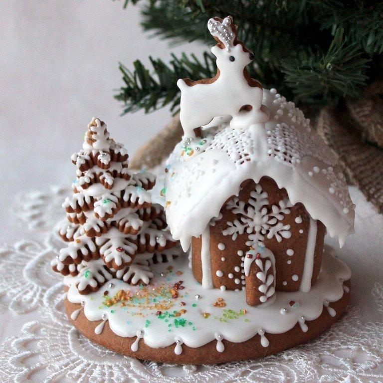 Картинки пряничные домики зимние, про самые