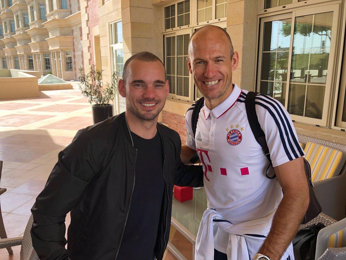 Happy to meet my friend @arjenrobben in #Doha