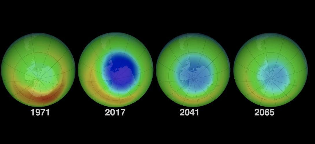Le trou dans la couche d'ozone est en train de se résorber d'après la NASA https://t.co/bMKUVb8lRX