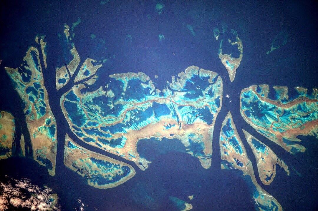 Canadianspaceagency Ar Twitter The Great Barrier Reef