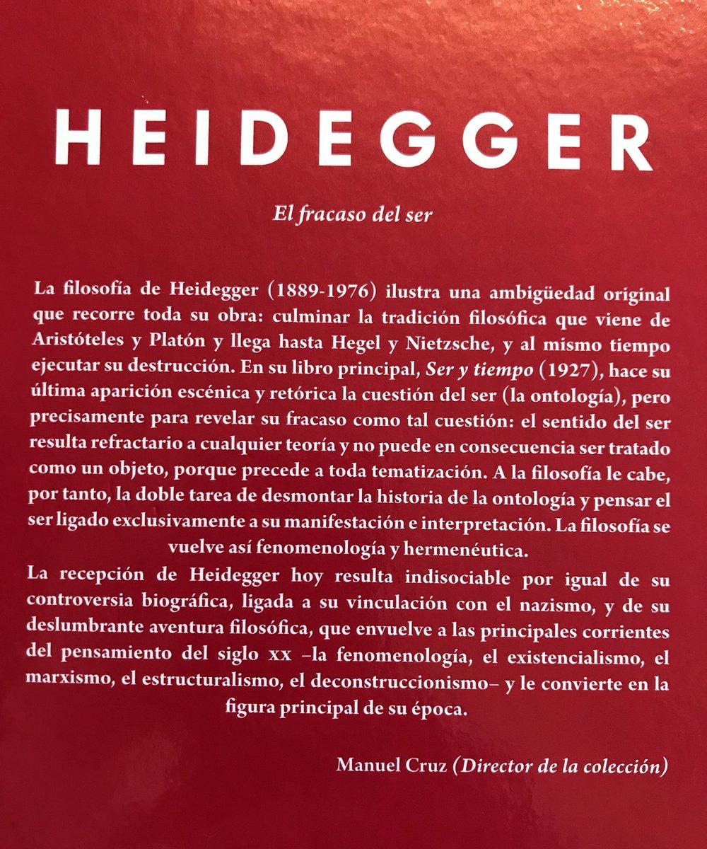 Esperanza Ferrer On Twitter Ser Y Tiempo Heidegger