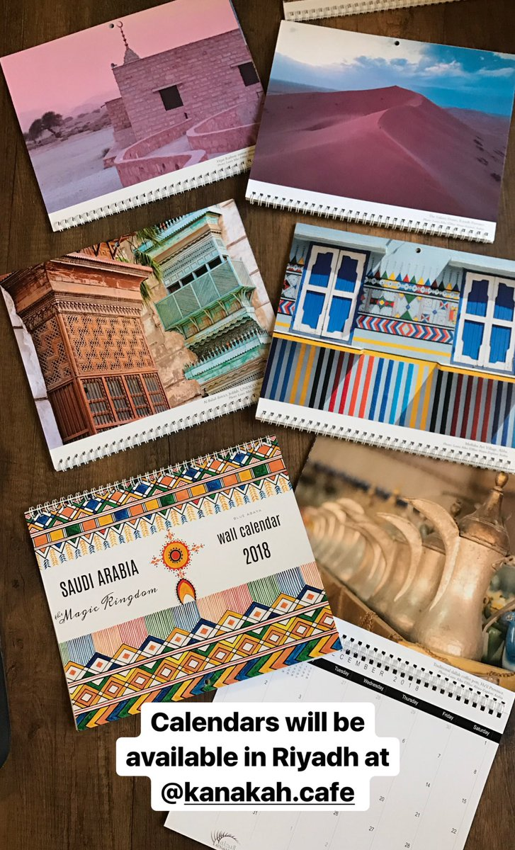 laura alho on twitter saudi arabia wall calendars 2018 all images and design by me available in riyadhthe stationary store kanakah cafe