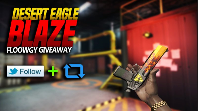 ⚠️DEAGLE BLAZE GIVEAWAY⚠️  1. Join my Steamgroup: https://steamcommunity.com/groups/floowgyGiveaways… ✅  2. Follow me ✅  3. RT this Tweet ✅