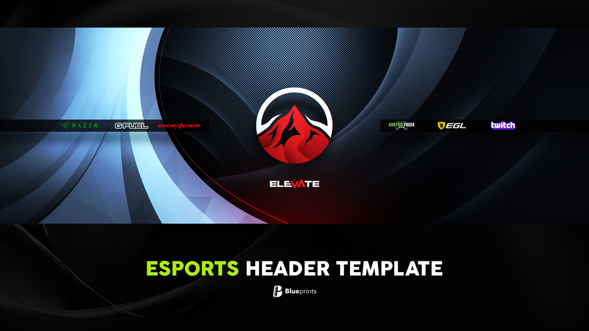 Blueprints On Twitter This Esports Header Template Is Now