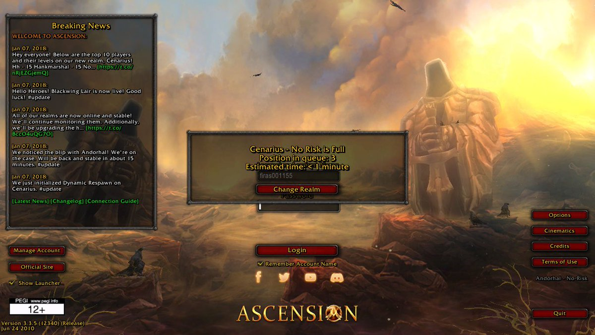 Ascension WoW on Twitter: