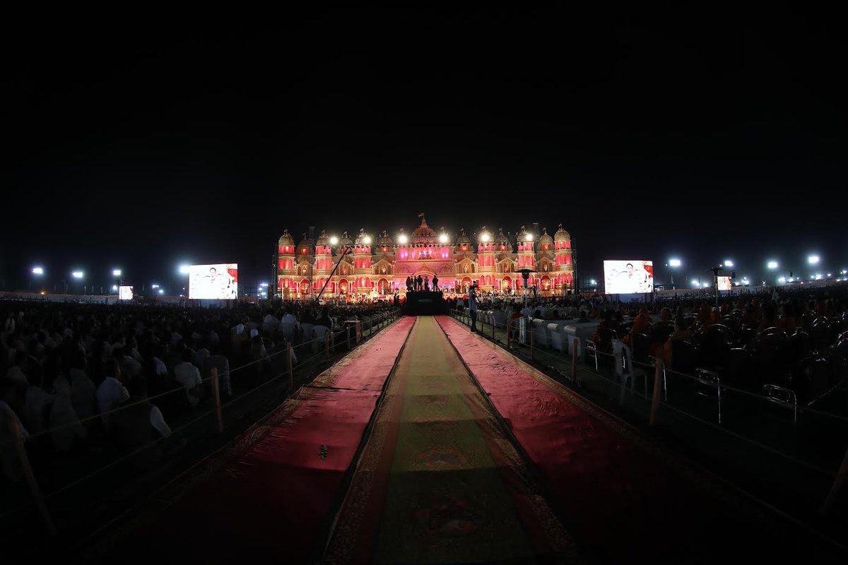 Huge attendance at Haridham Sokhda's Atmiya Yuva Mahotsav at Telav