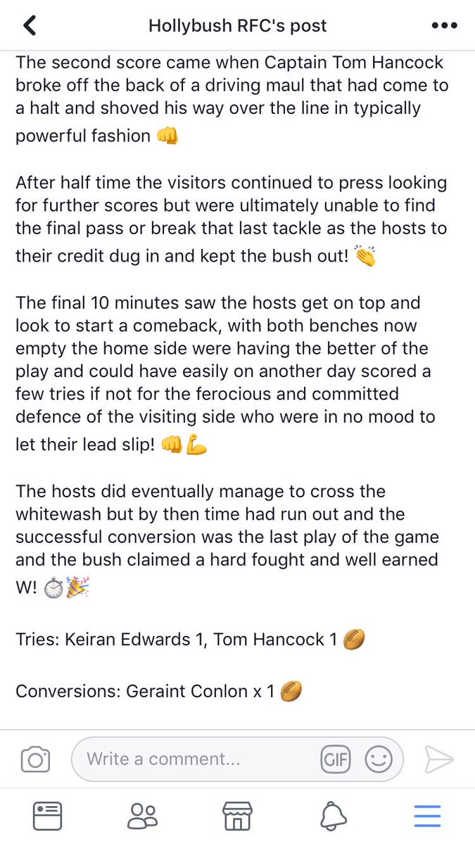 hollybush rfc on twitter write up from yesterday s trip to