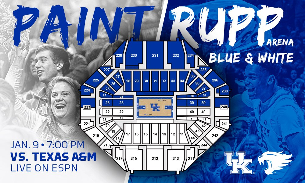 Rupp Arena Rafters Getting Painted Blue: Kentucky Basketball Wants The Big Blue Nation To Paint