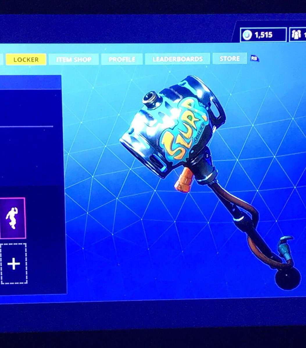 0 replies 0 retweets 1 like - fortnite slurp axe
