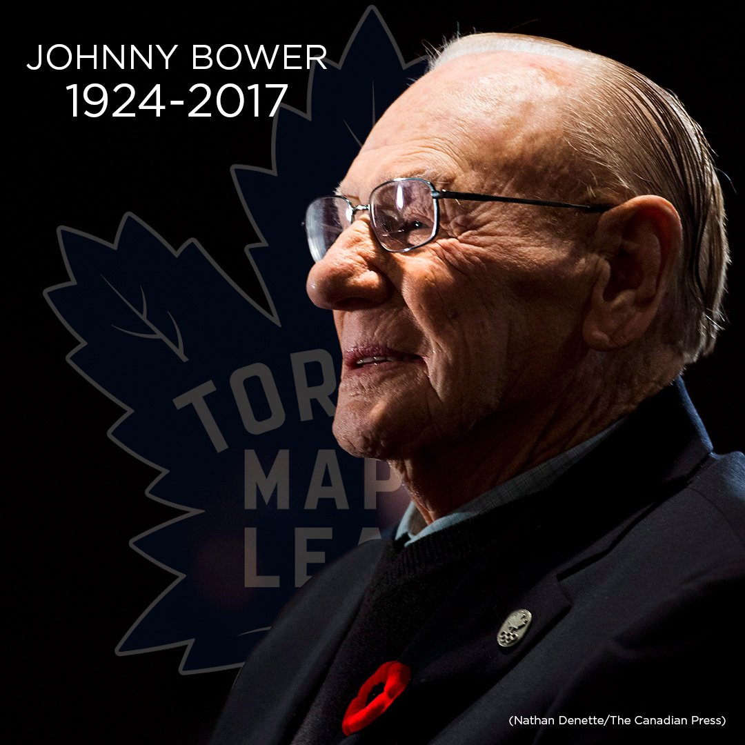 BREAKING | Maple Leafs legend Johnny Bower dead at 93 https://t.co/KiMzo9ope5