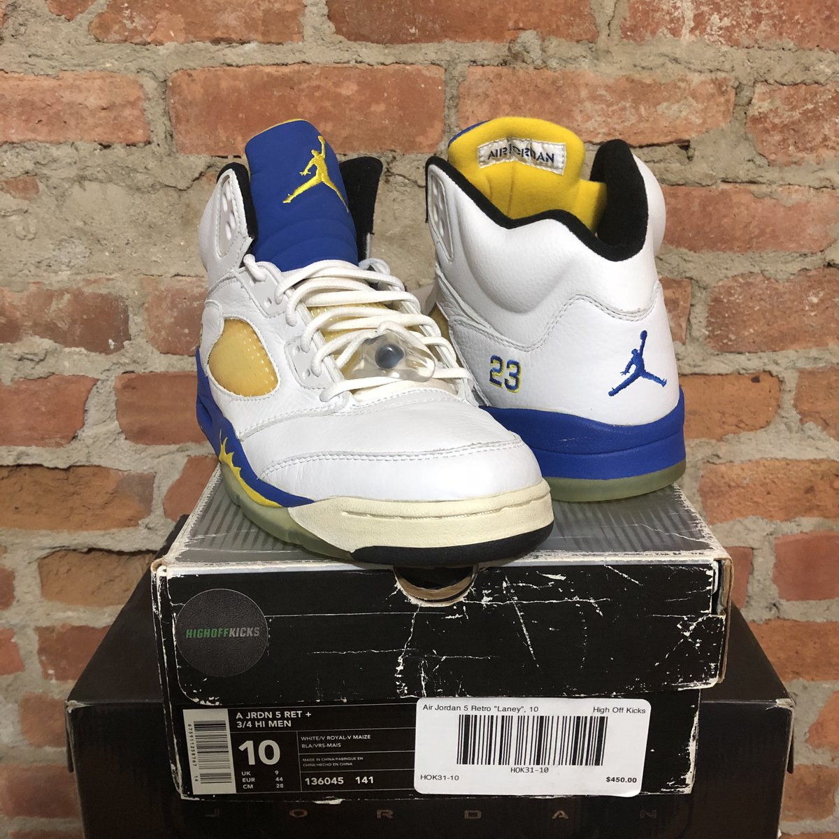 sneakers for cheap ecf76 307e2 DS Air Jordan 5 Retro 2000 Laney Sz 10 -  100 shipped! Small hairline crack  on midsoles. DM for picspic.twitter.com eyUrU5GH2I