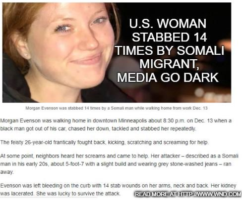 We have huge problem in Minnesota: Young woman stabbed 14 times by Somali migrant. Minneapolis Star Tribune @StarTribune ,largest paper, doesnt think crime important enough to report on  https://t.co/9KahUcw1gQ   #immigration #ExtremeVetting #MAGA #Trump