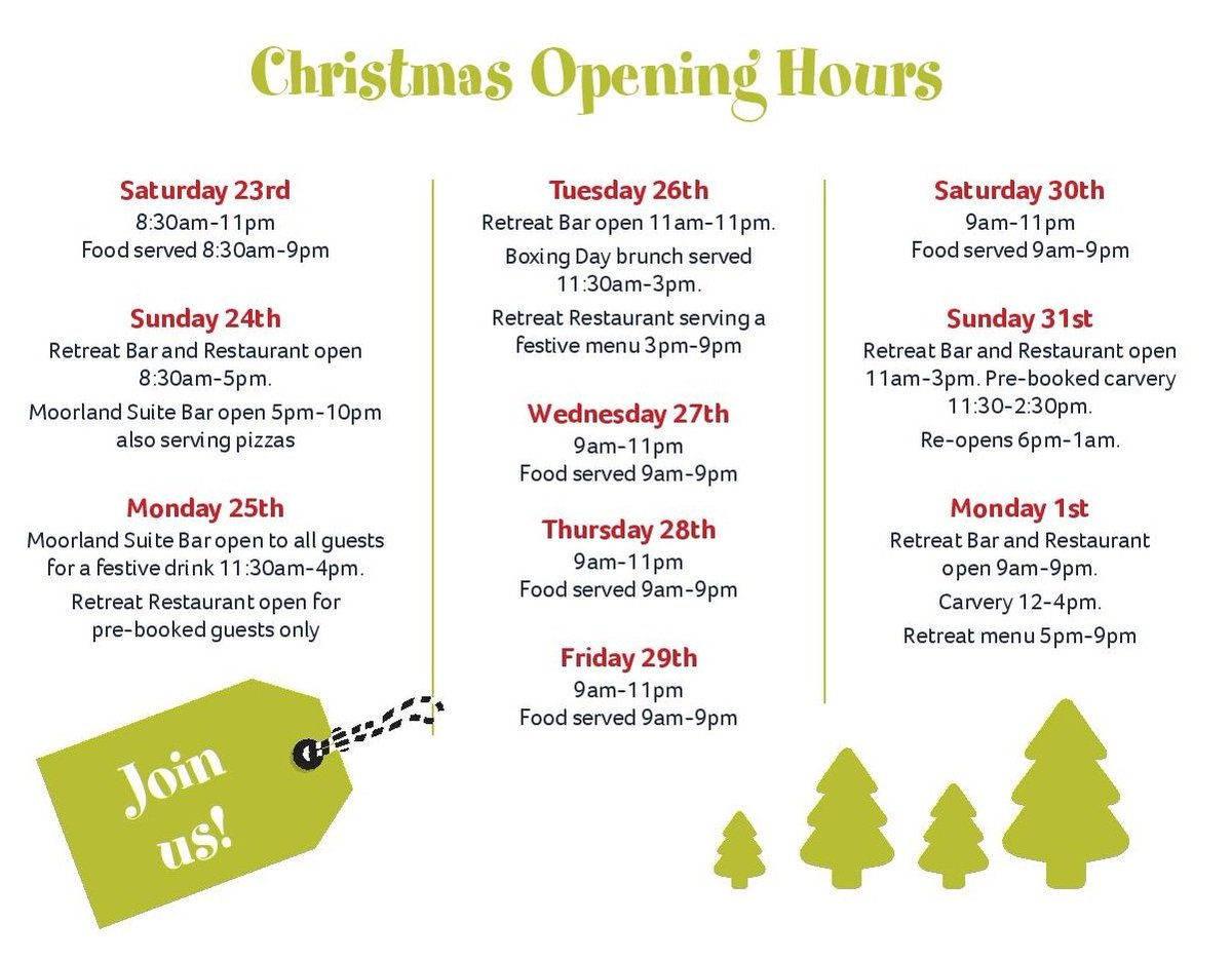 finlake holiday park on twitter we hope you had a great xmas fancy a meal out this weekend take a look at our opening times for the restaurant over the