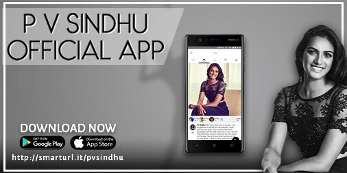 Image result for PV Sindhu launches her new mobile application across all platforms