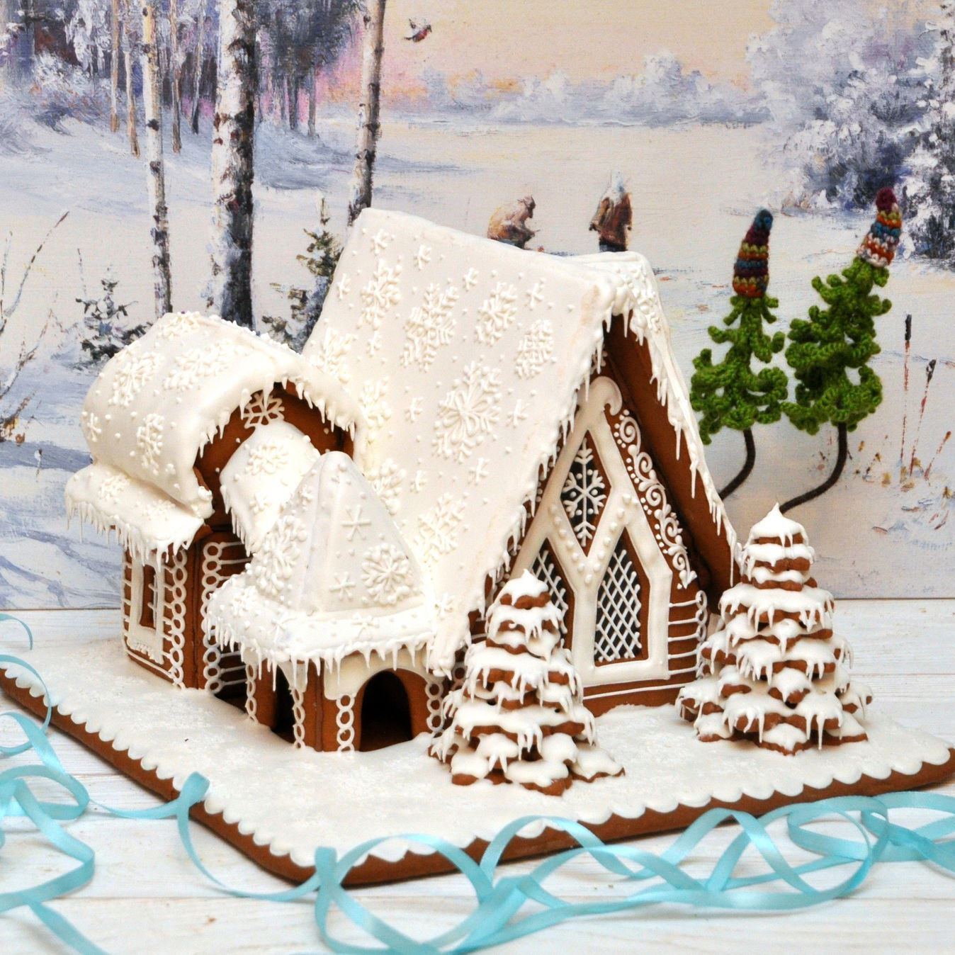 Картинки пряничные домики зимние, анимация