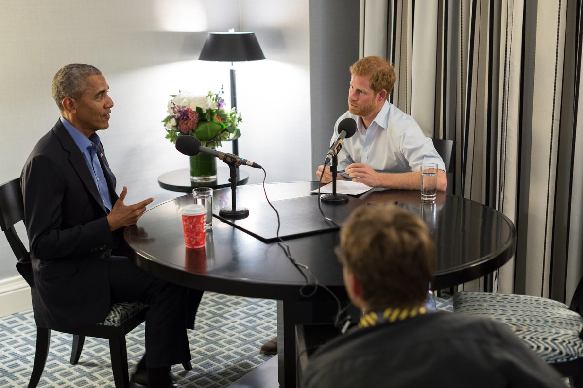 Up next... Prince Harry interviews @BarackObama on his time in office and hopes for the future #r4today