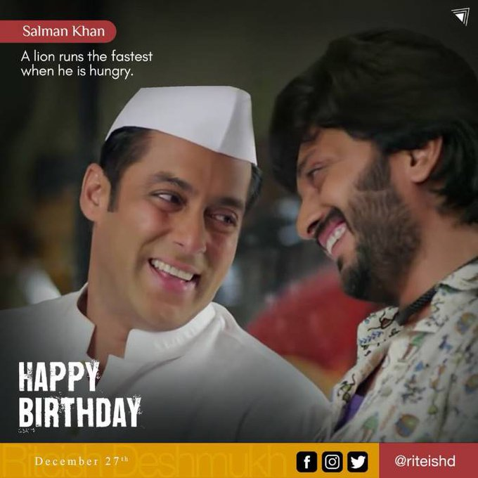 Riteish Deshmukh wishes Happy Birthday Bhau