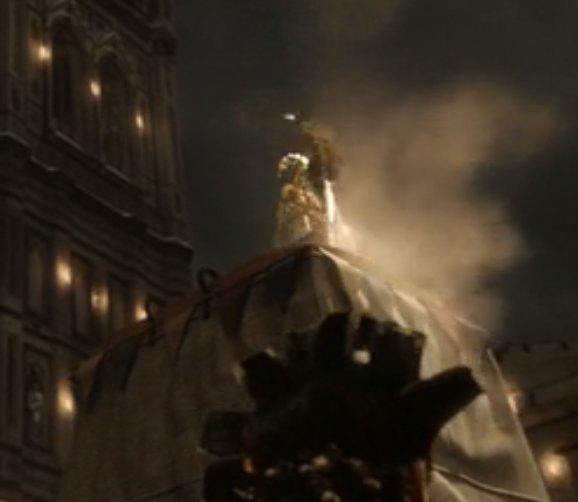 """FGOのダヴィンチが肩に乗せているの。ドラマ『ダ・ヴィンチと禁断の謎』の第一話でダ・ヴィンチがつくった機械仕掛けの鳩""""コロンビーナ""""じゃね??"""