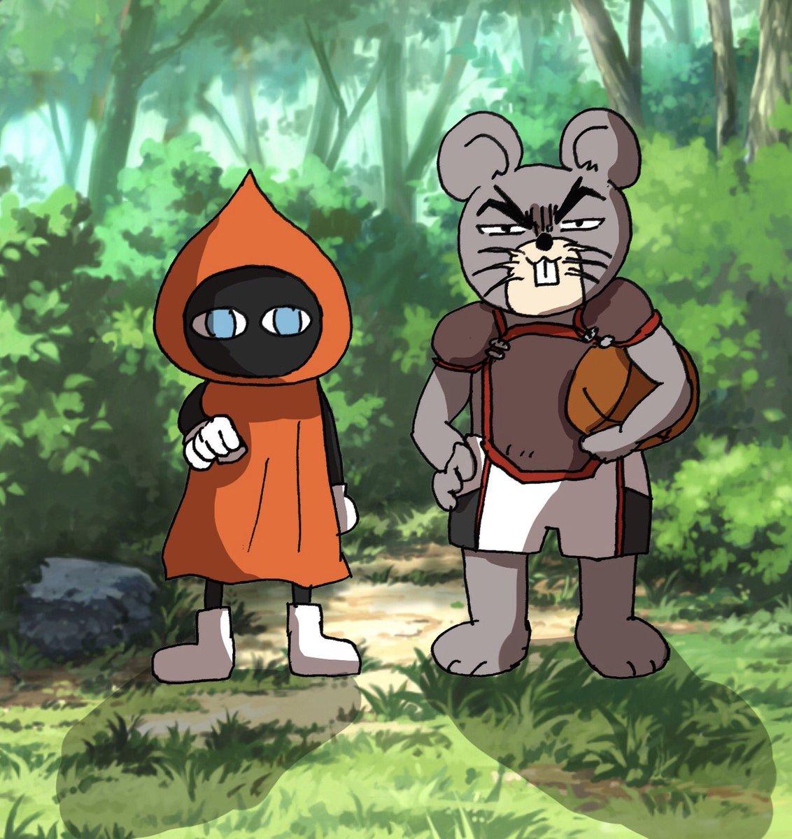 「クロコ(?)と タテジワネズミ(?)が あらわれた ! バスケ を したそうに こちらを みている ! 」↩︎