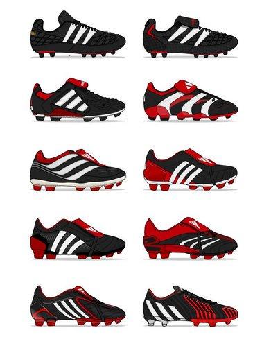 timeless design 744a0 d9cf1 ... get 90s football on twitter the evolution of the adidas predator.u2026  597dd 4e585