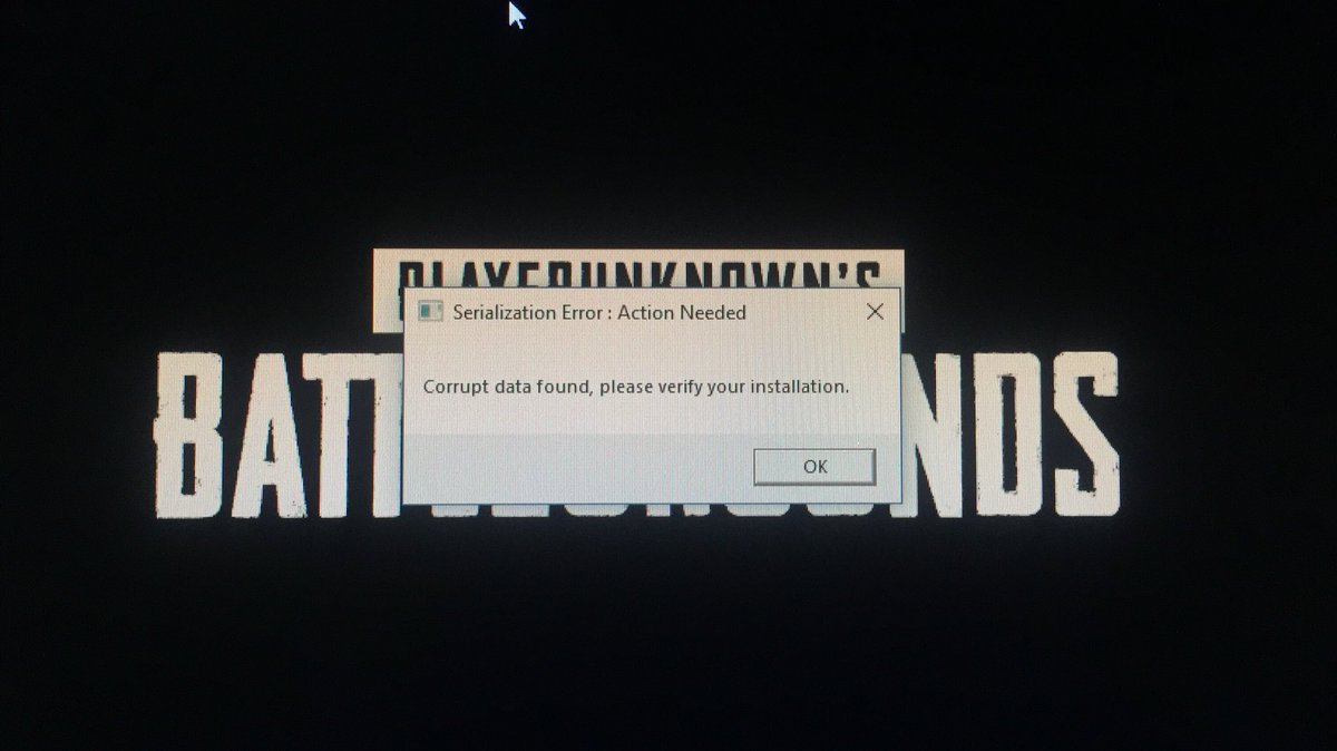 Corrupt data found please verify your installation pubg - mavilbestwers