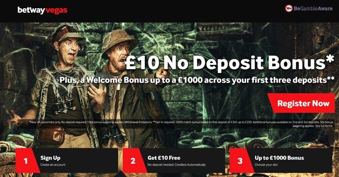 Betway Vegas 50 no deposit casino bonus