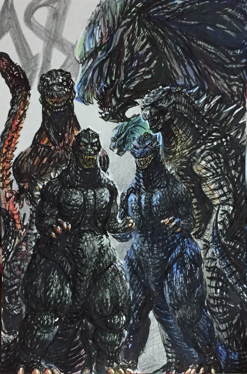 100枚以上のおすすめ画像 ゴジラ の イラスト 最高の写真の壁紙の
