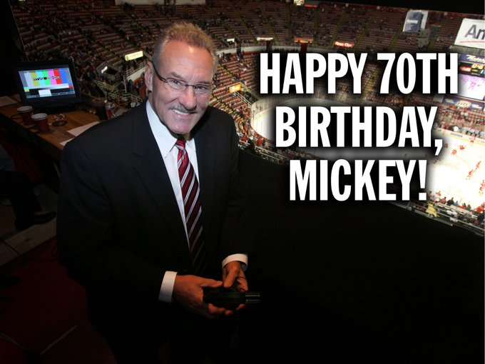 Bingo-Bango! Mickey Redmond is 70 today! Happy birthday to the announcer.