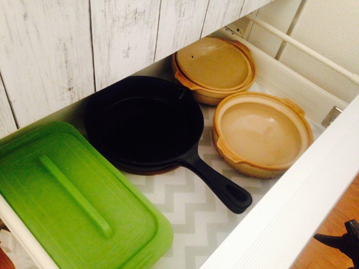 test ツイッターメディア - 大掃除。 seriaの食器棚シート ギザギザを使いました♪° めっちゃかわいい?? #shino's channel  #DIY #100均DIY #seria #セリア #食器棚シート#キッチン#大掃除#YouTuber https://t.co/jAK44z7mwX