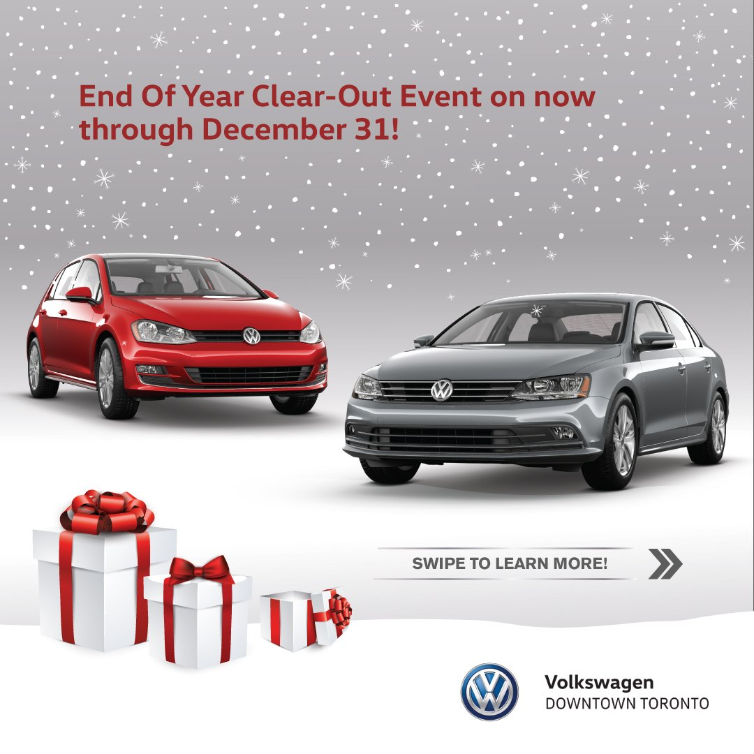 Volkswagen Downtown Toronto >> Vw Downtown Toronto On Twitter End Of Year Clear Out Event
