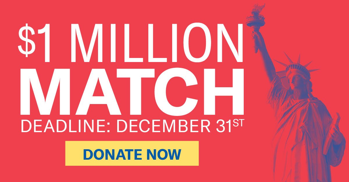 Fight back twice as hard: your gift to ACLU will be doubled if you donate now. http://www.aclu.org/MatchMyGift pic.twitter.com/Le5D1ykoQC