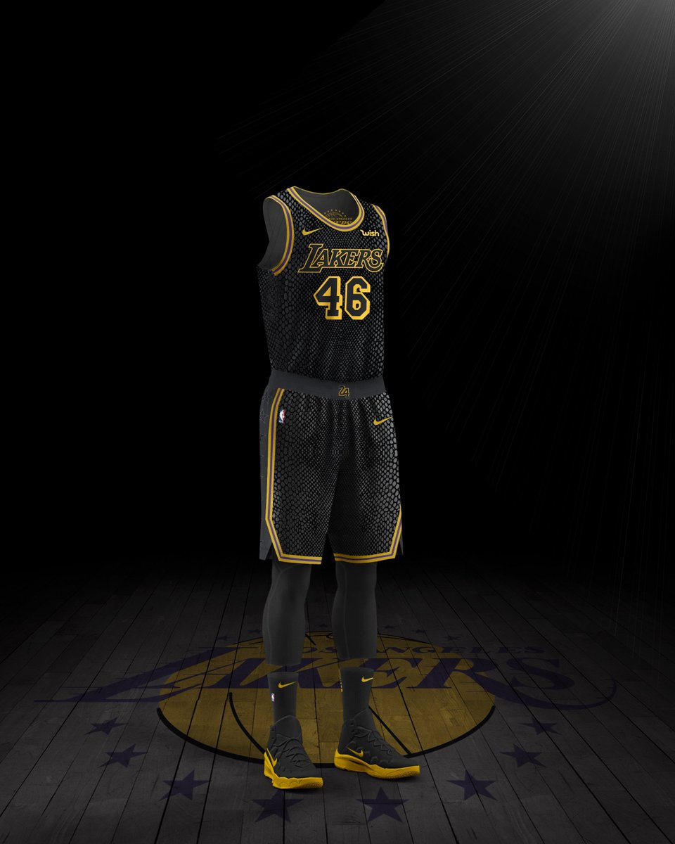 buy popular 2aa32 65f61 Kobe weighs in on the Lakers black mamba-inspired 'city' jerseys