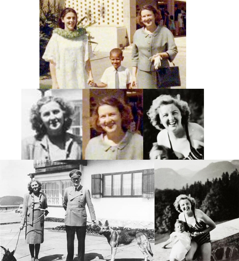 """4th of July baby on Twitter: """"Eva Braun Hitler wife and her daughter Obama's mother Ann.… """""""