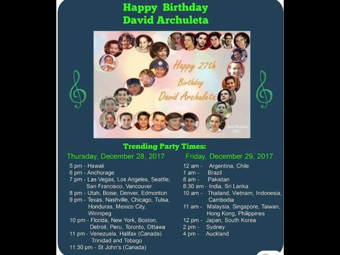 ARCHIES... Please join message Party  Trending Topic: Happy Birthday David Archuleta.