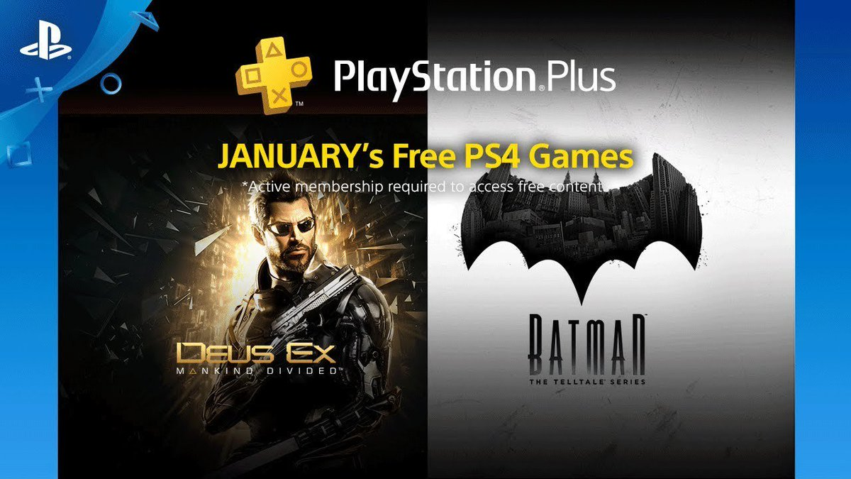 PS plus games January 2018