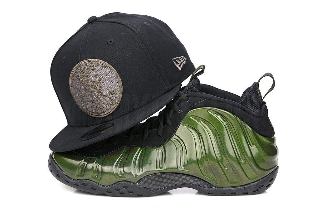 Penny 1¢ One Cent Jet Black Air Foamposite One