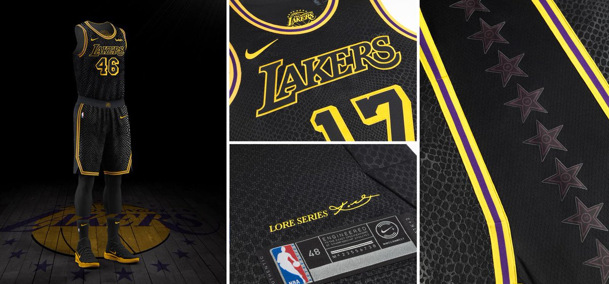b27e664d95a1 There are 16 stars on the uniform s side panels to represent every NBA  Championship the Lakers have won.pic.twitter.com JiDZtH2NLy