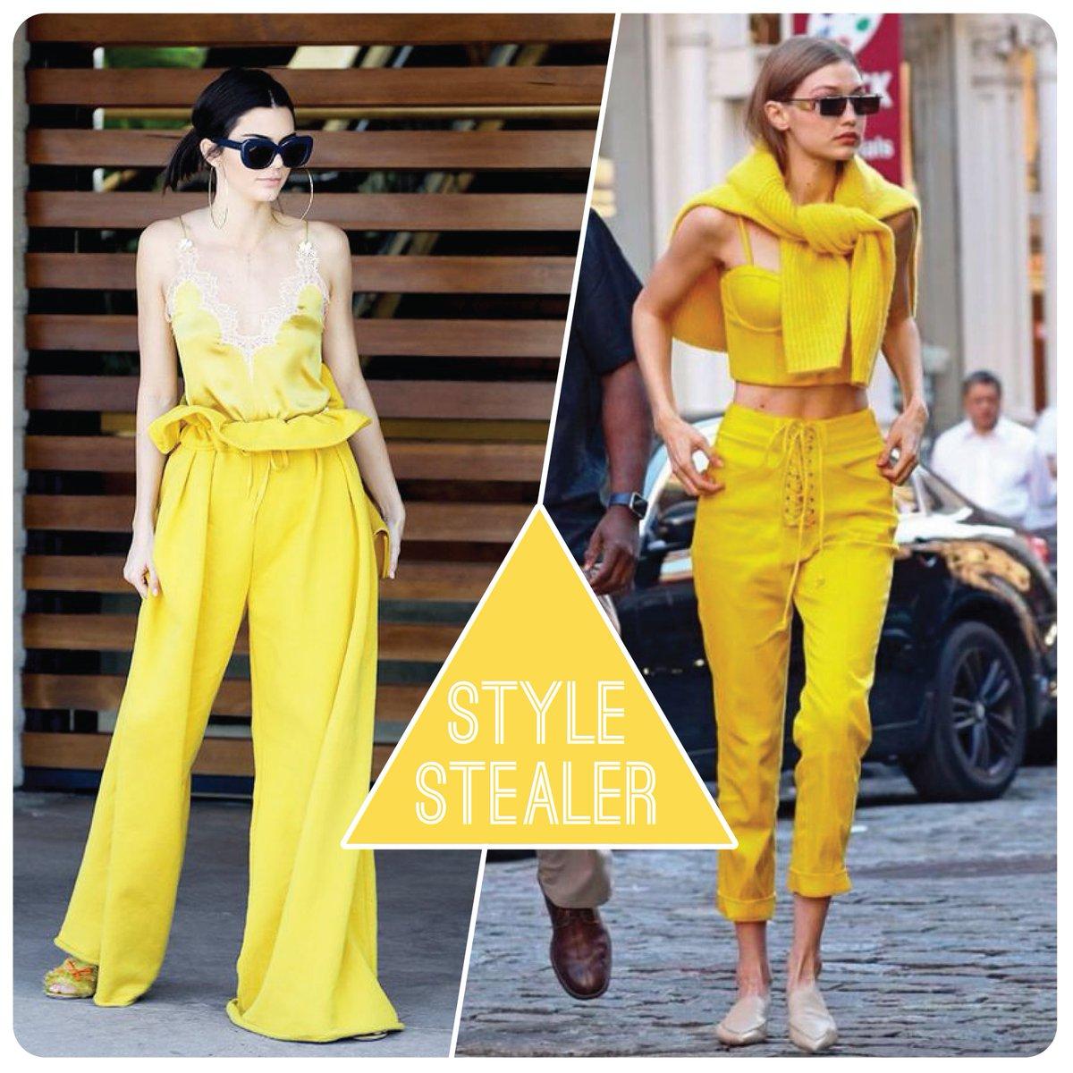 Watch Gigi hadid in an all yellow ensemble nyc video